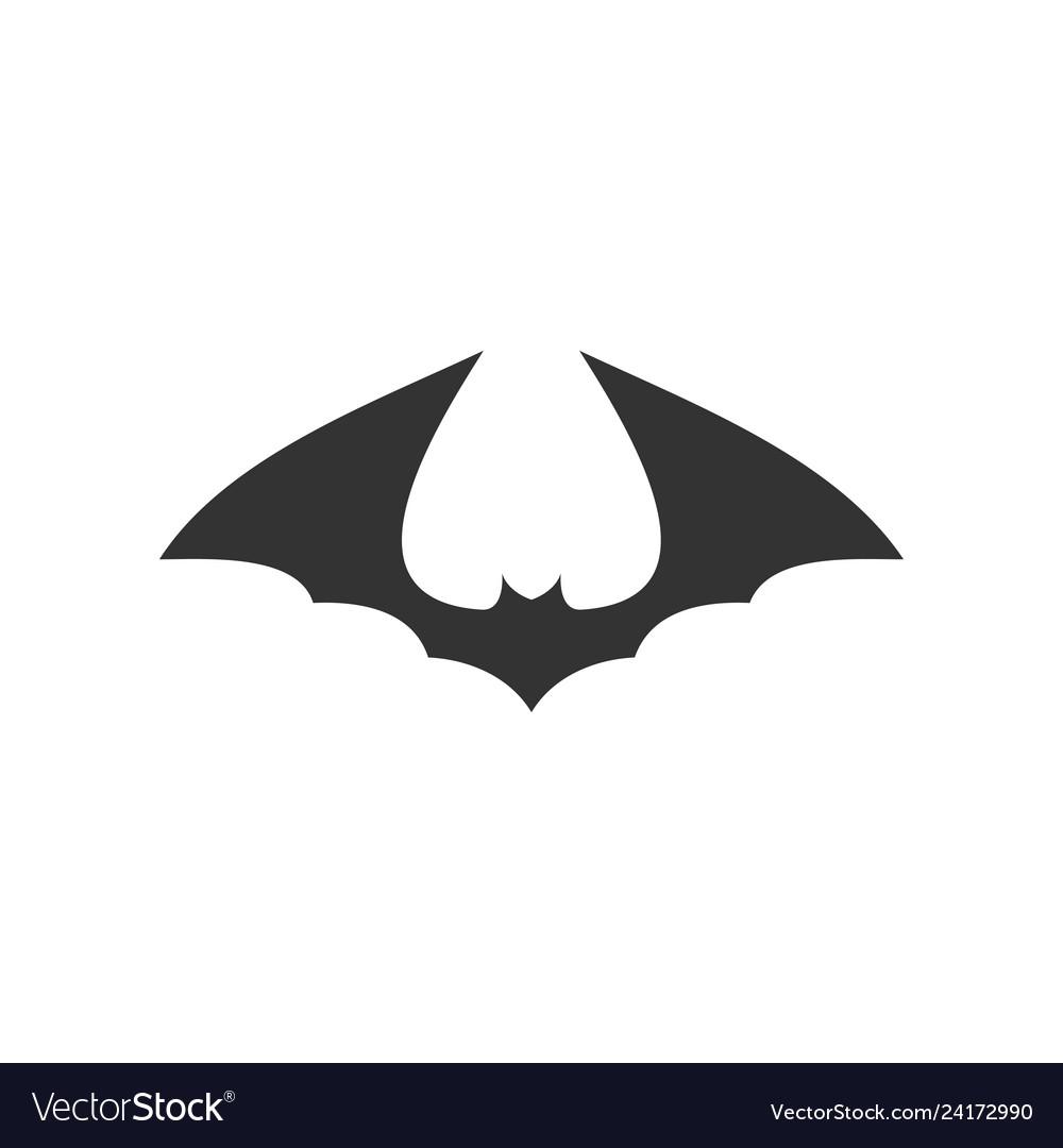 Bat animal icon design template isolated