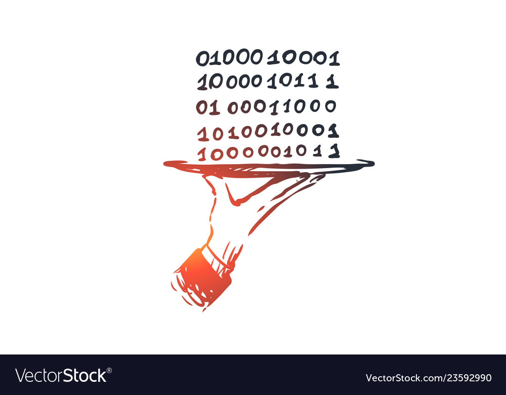 Data digital abstract code binary concept