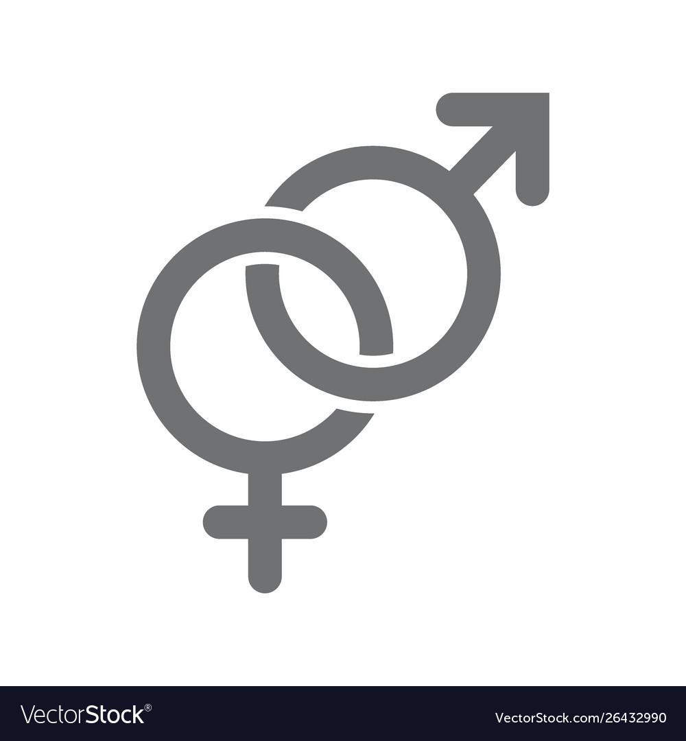 Gender symbols male and female icon