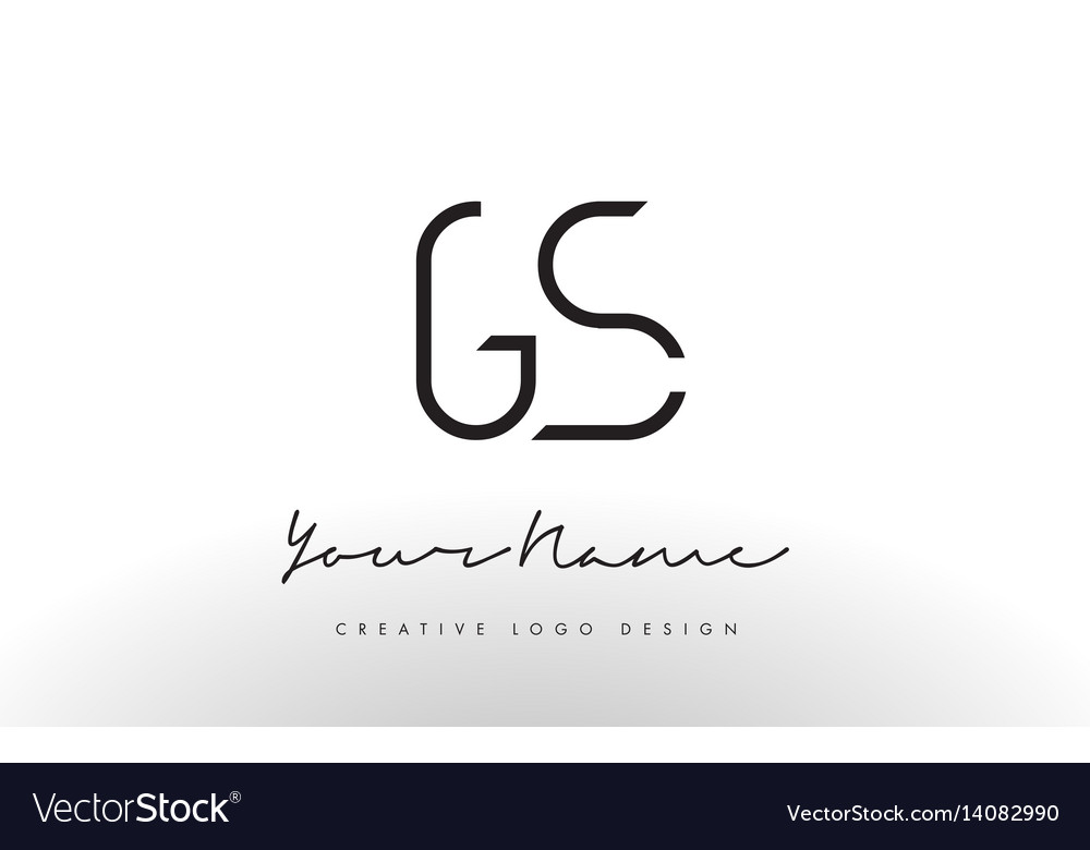 Gs letters logo design slim creative simple black