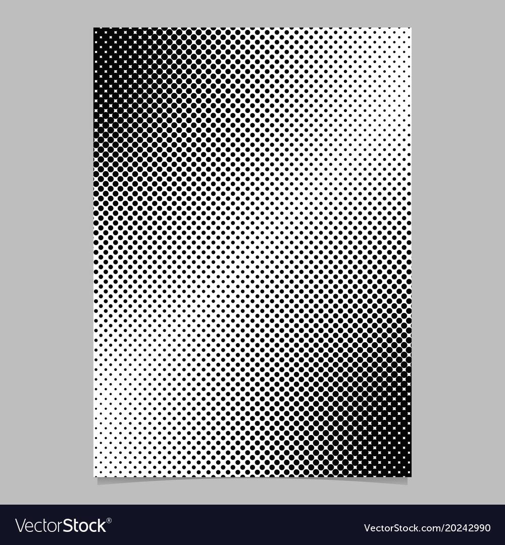 Monochrome halftone dot pattern flyer template vector image