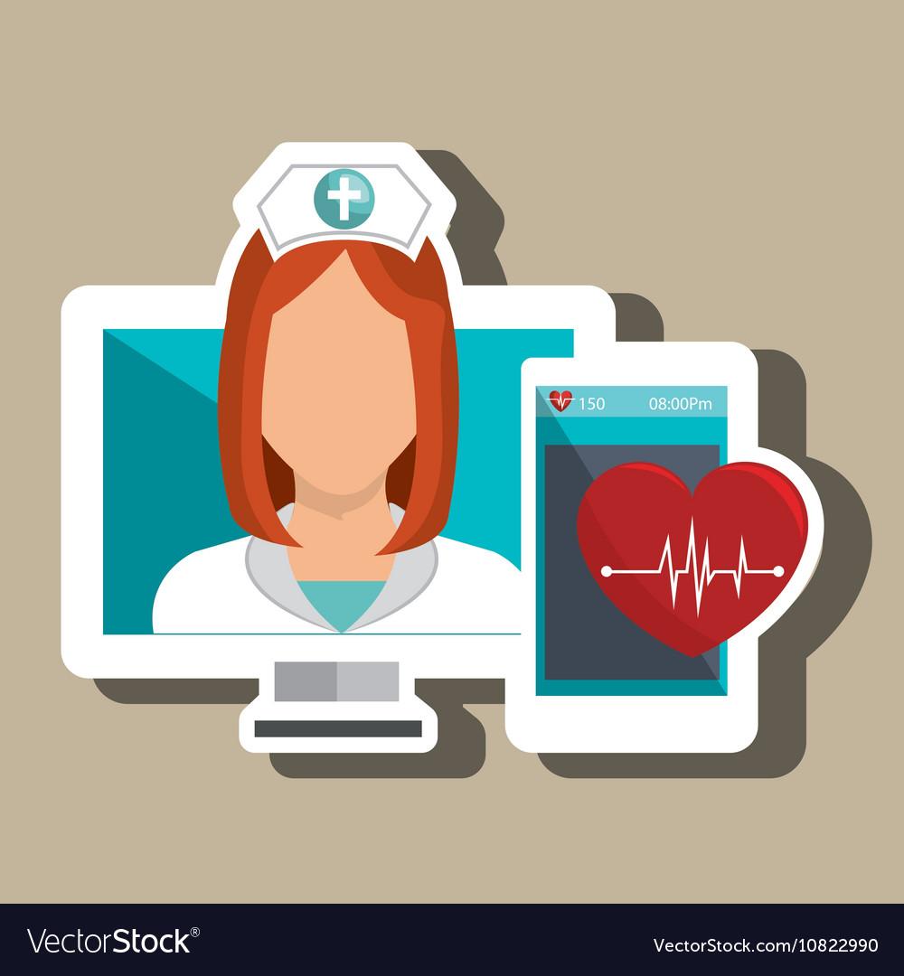 Nurse computer service health