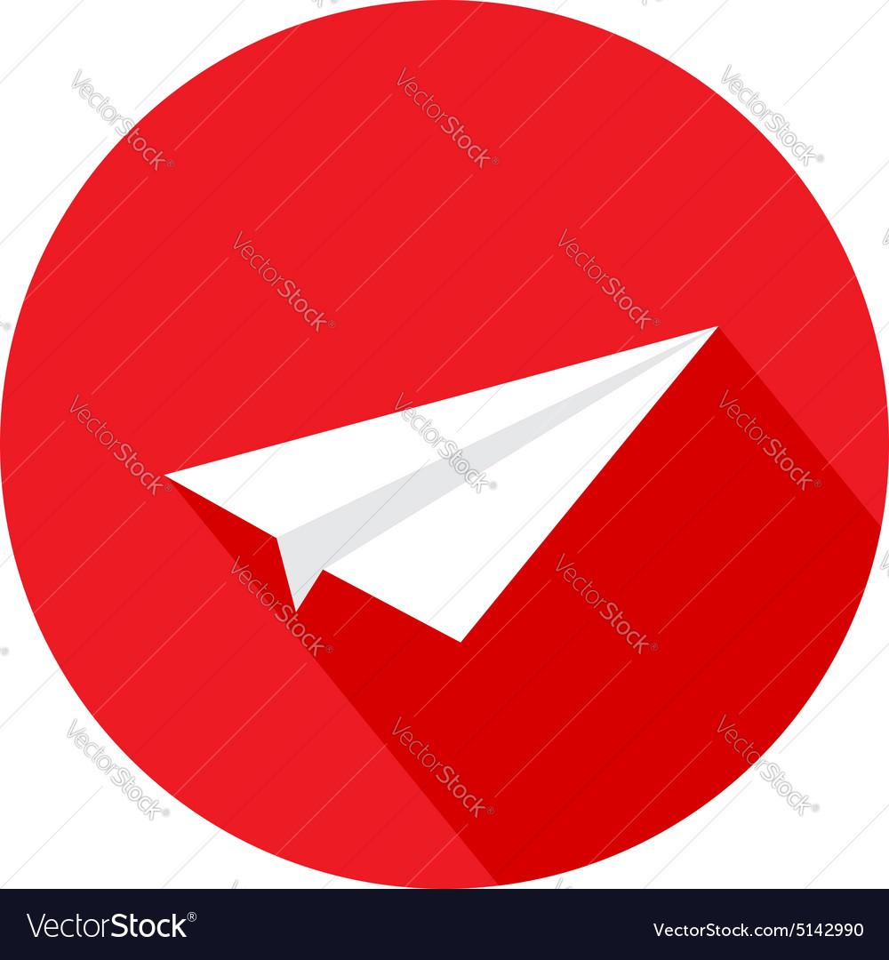 Paper plane of a flat design