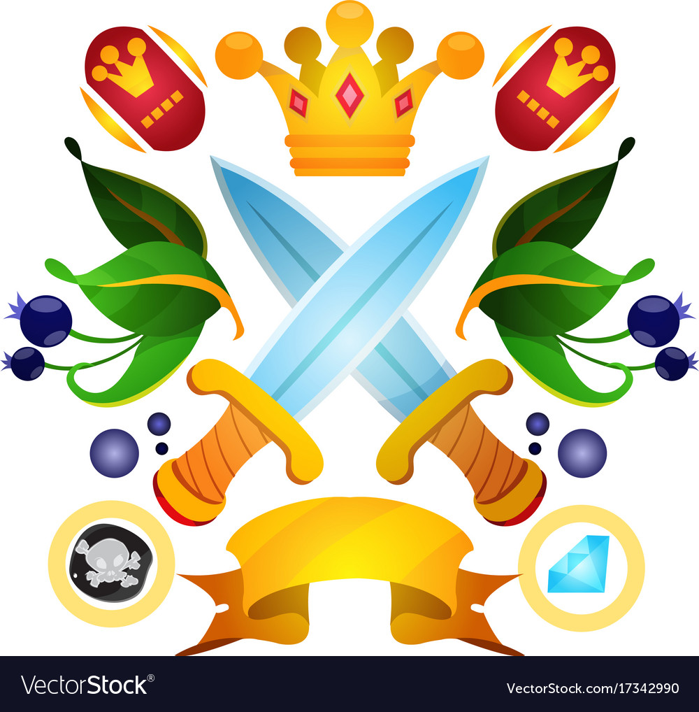 Sketch of tattoo with a crowns and crown drawing vector image