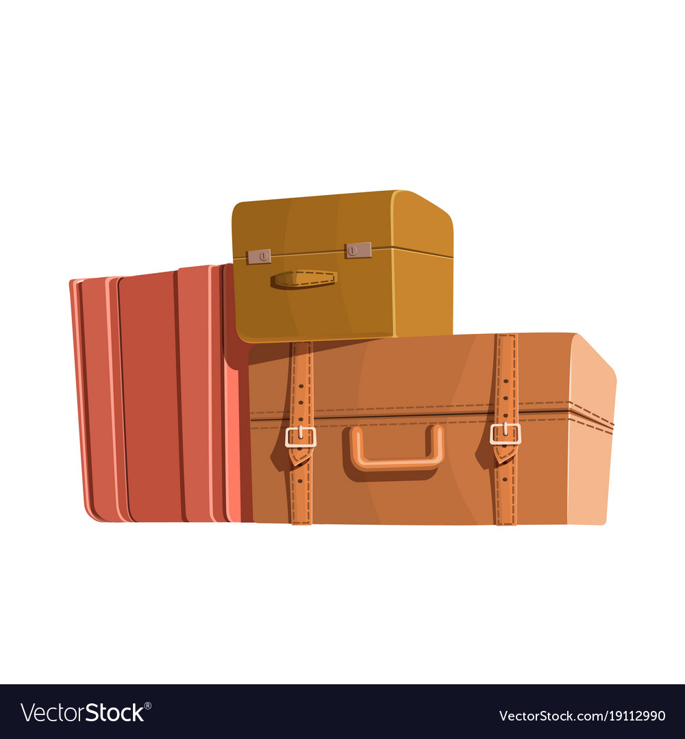 Travel bags and luggage color heap of