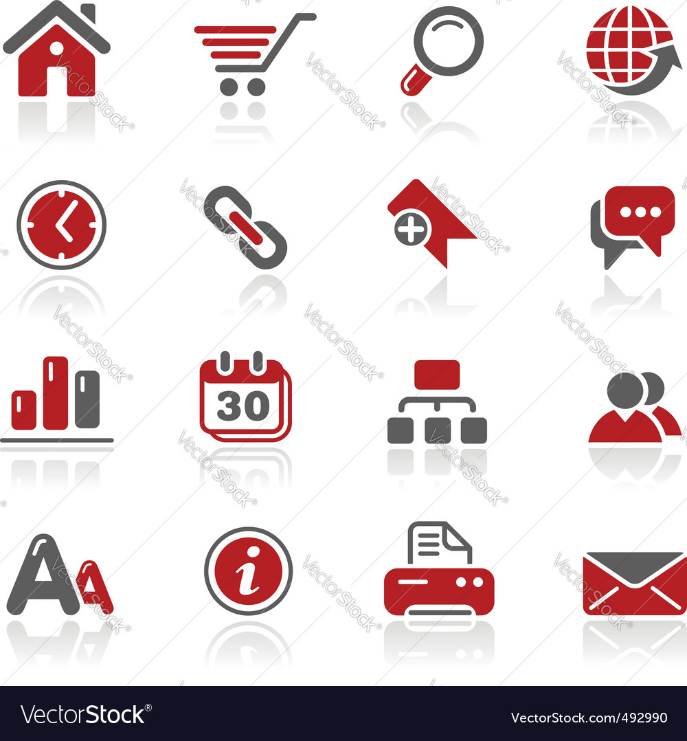 Web site icons vector image