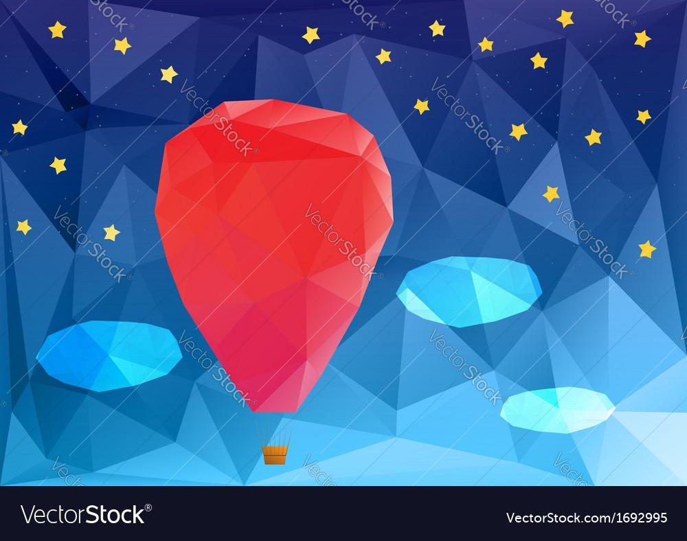 Ballon at night poplygonal