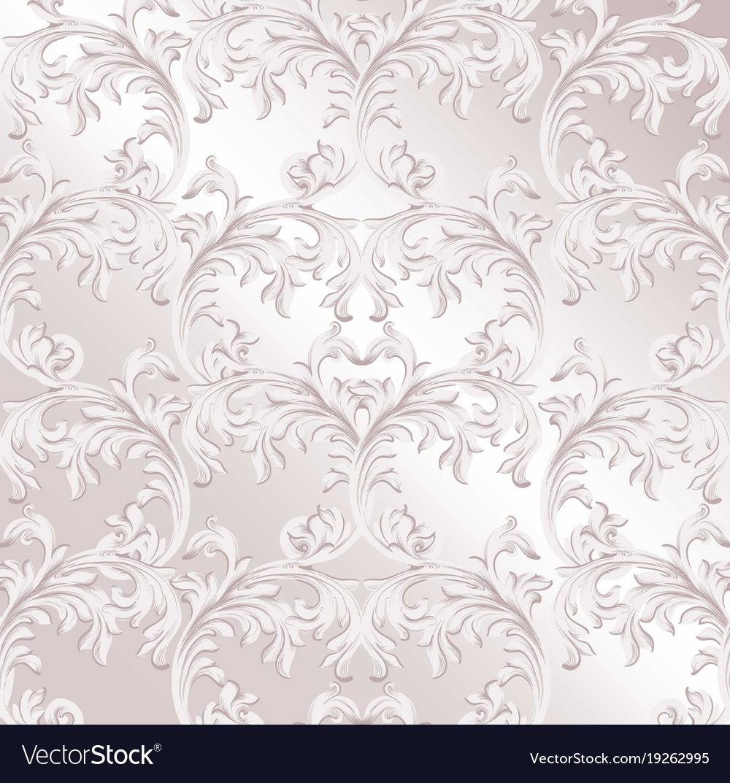 Baroque pattern background vintage