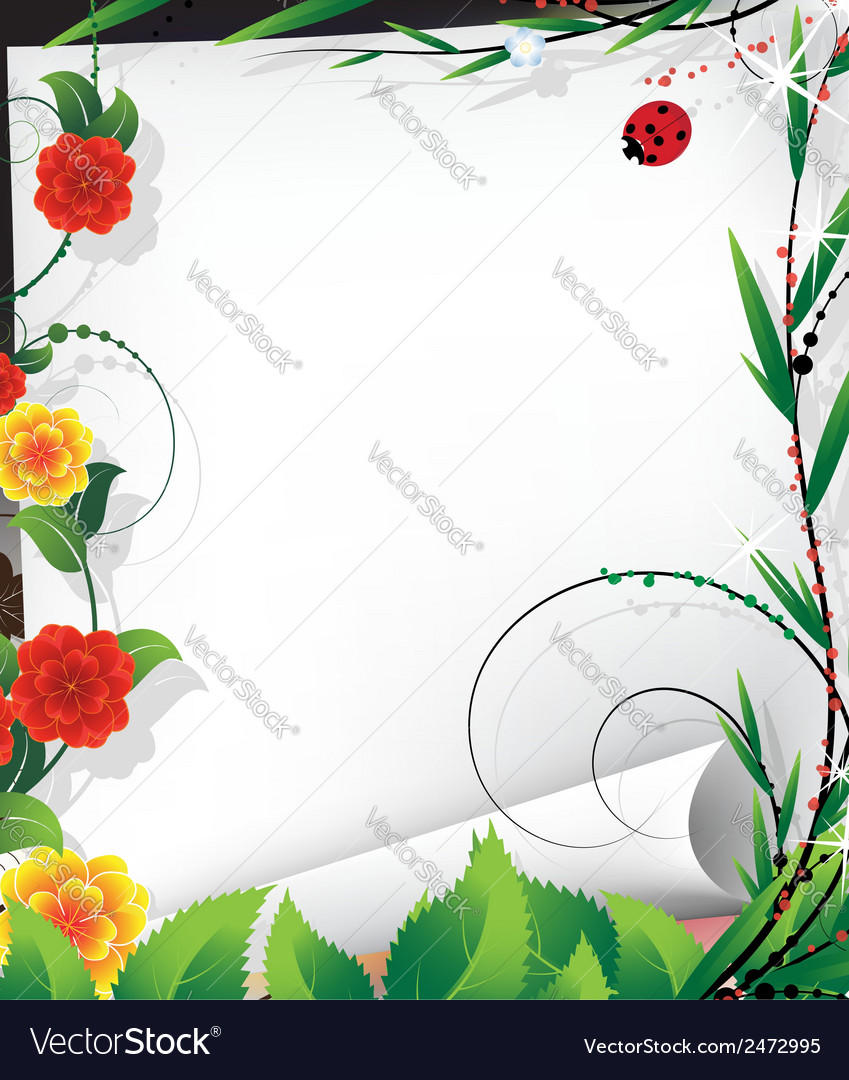 Bright fairytale background vector image