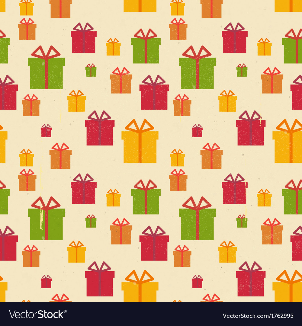 Christmas Seamless Vintage background vector image