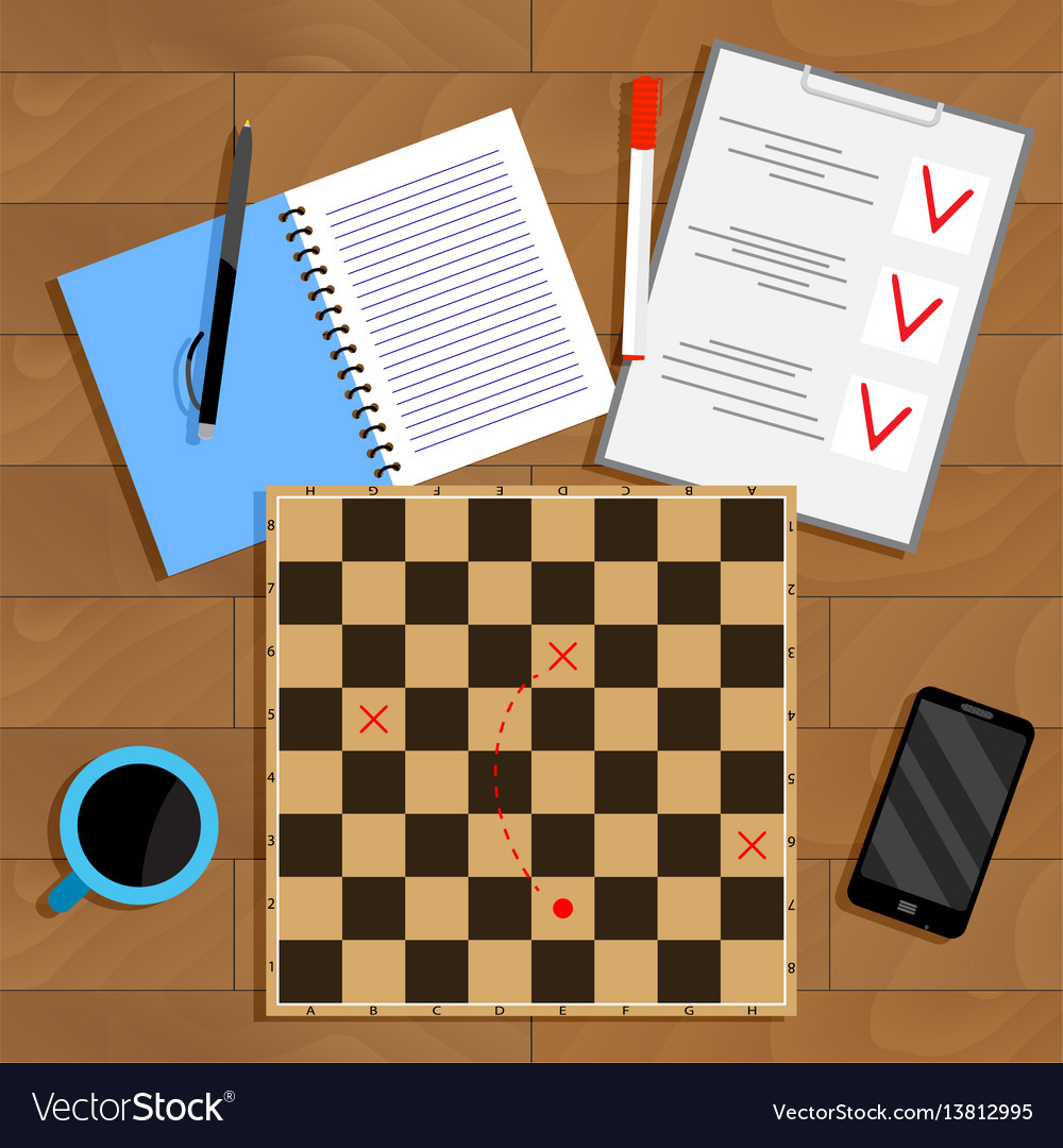 Planning and strategy business vector image
