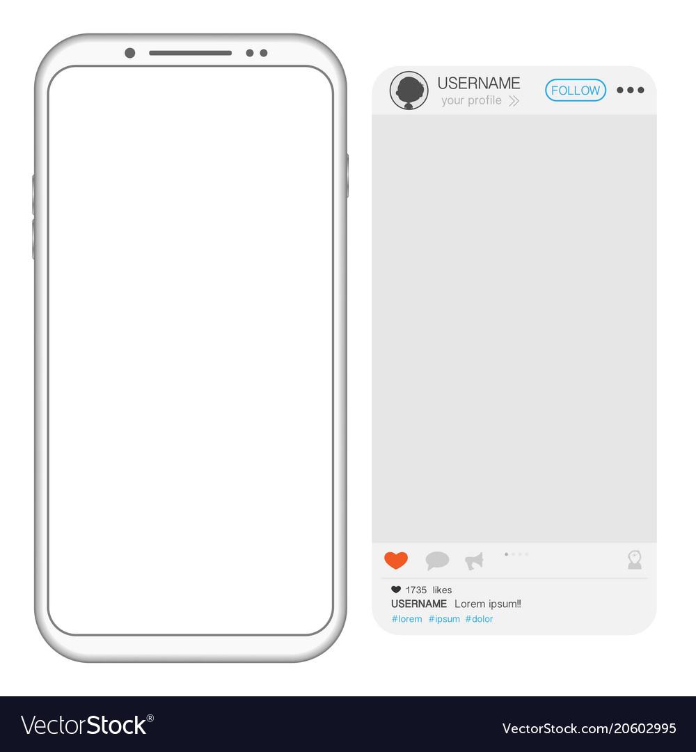 Social media post frame