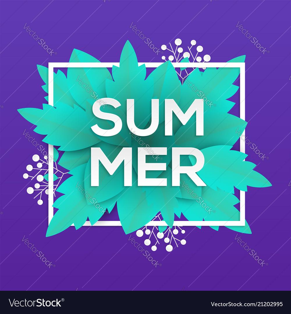Summer - modern colorful