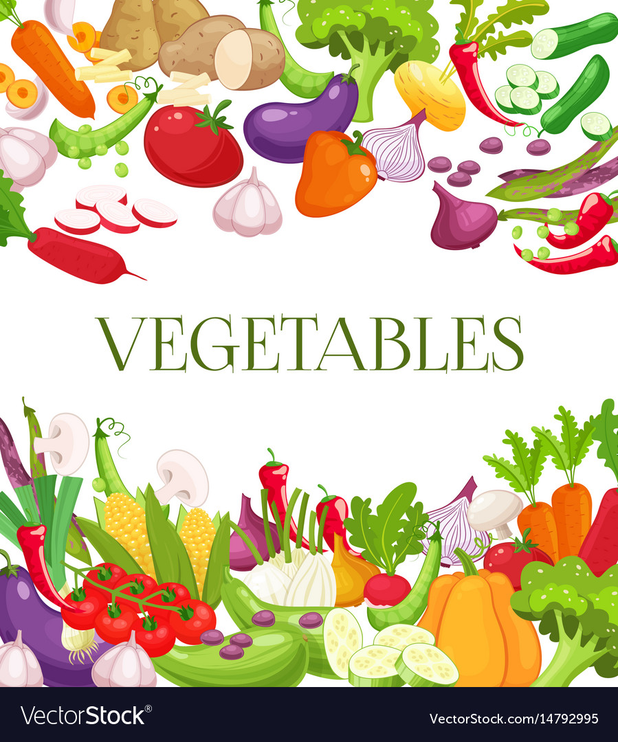 Vegetable and healthy food menu poster fresh