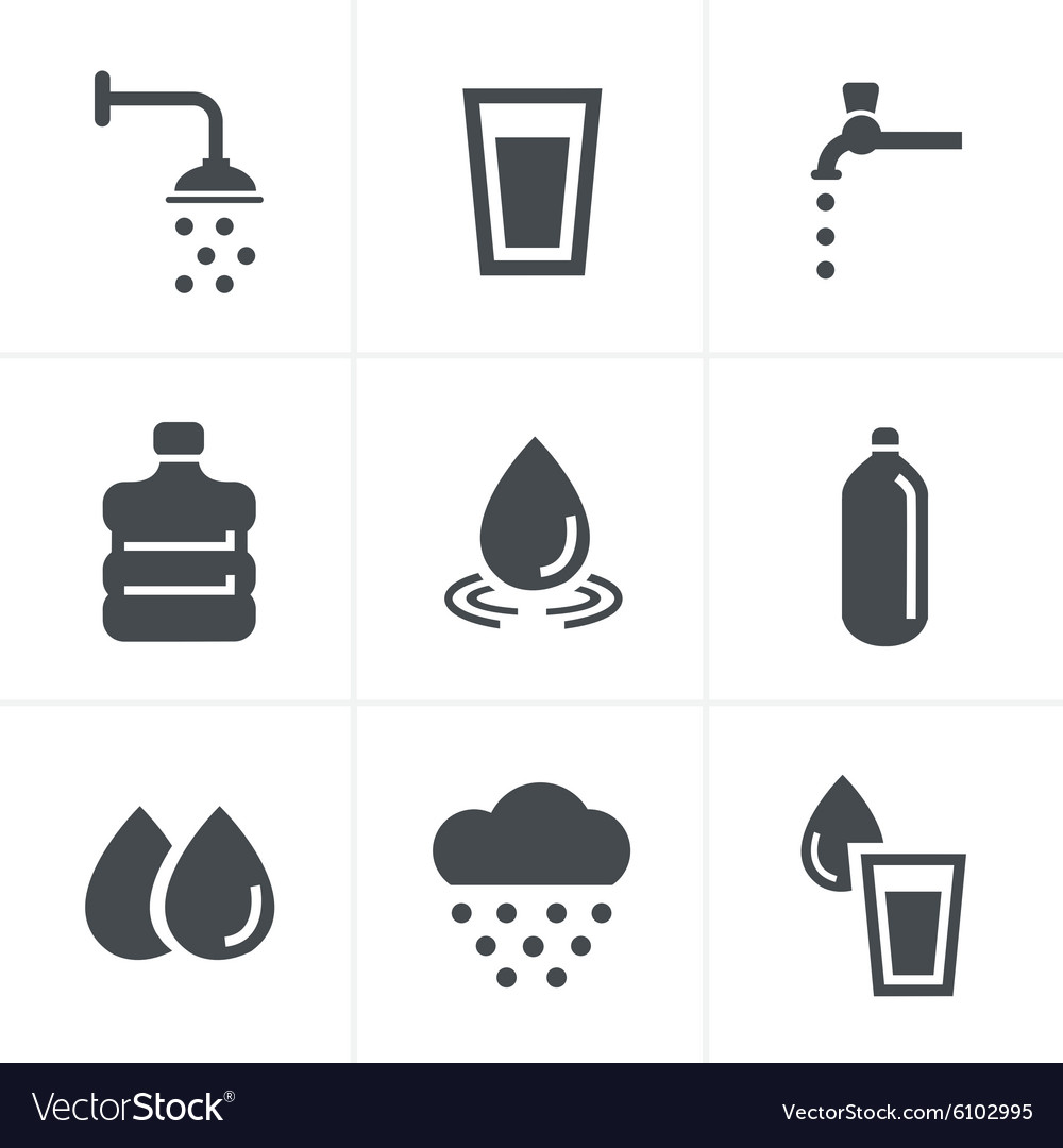 Water related Icons Set Design