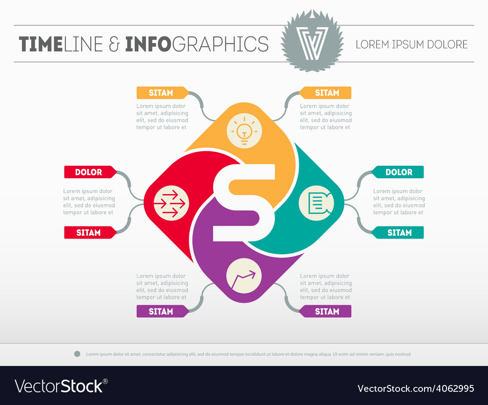 Web template of the business development strategy vector image flashek Image collections