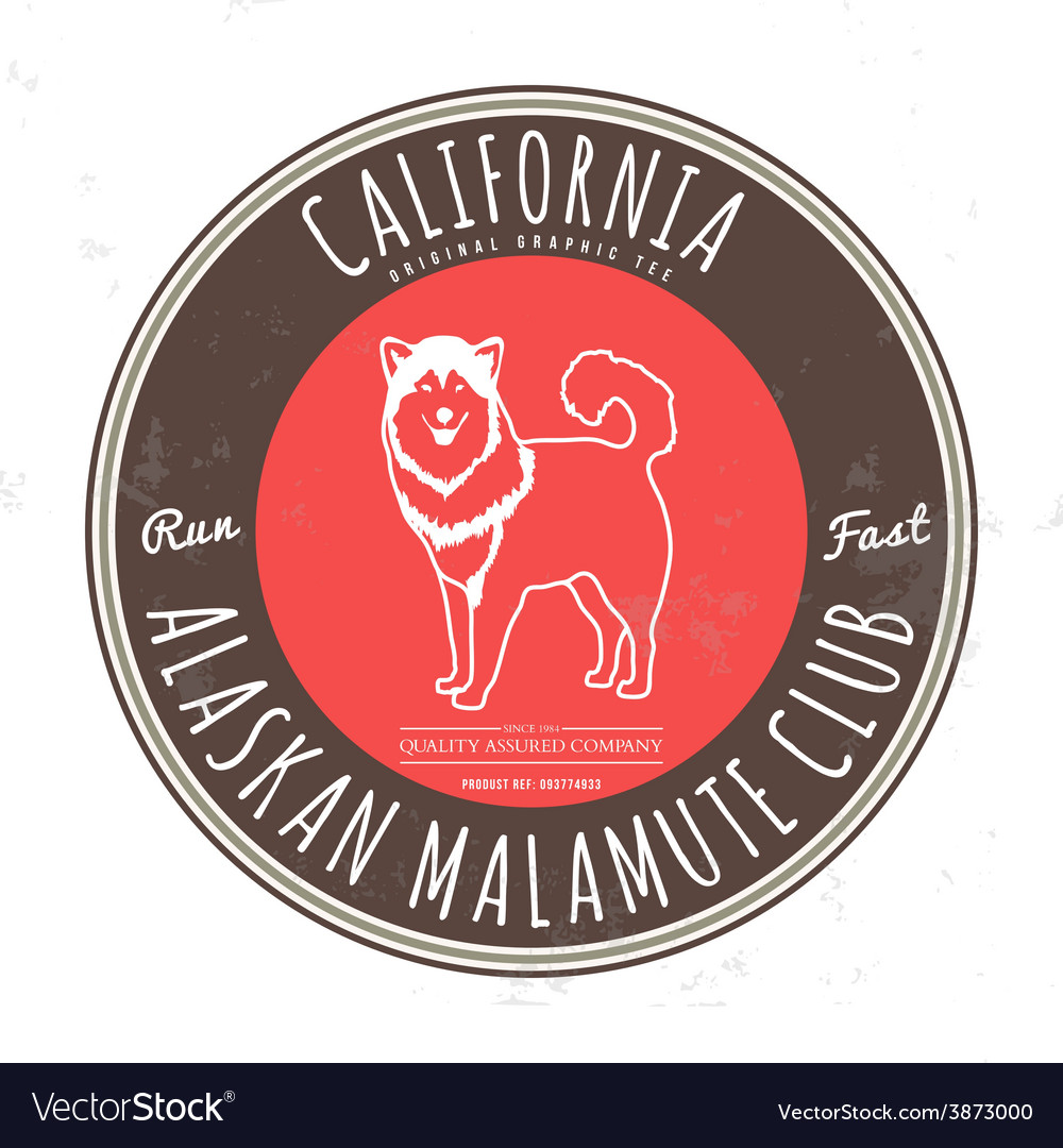 Alaskan malamute club California Tee graphic