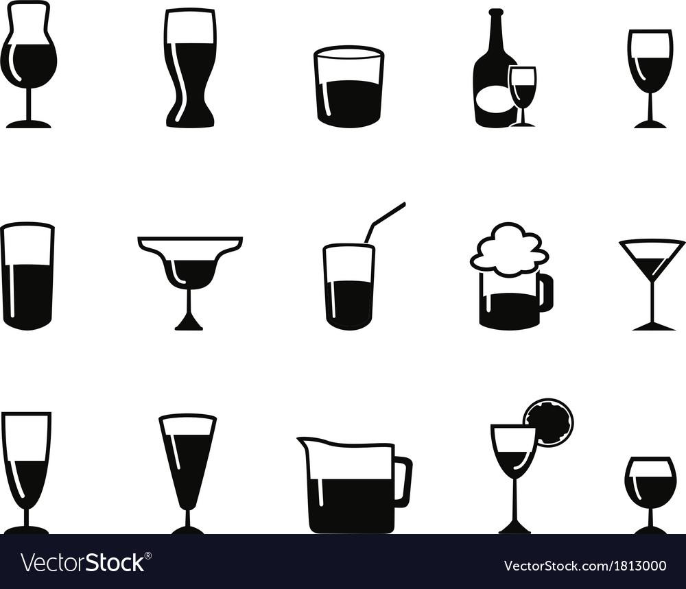 Alcohol icons set