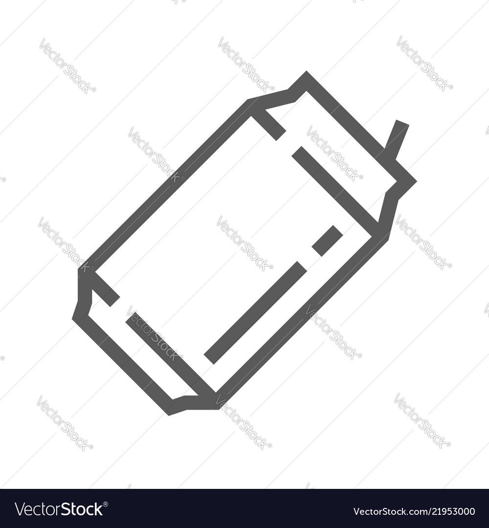 Aluminum can line icon