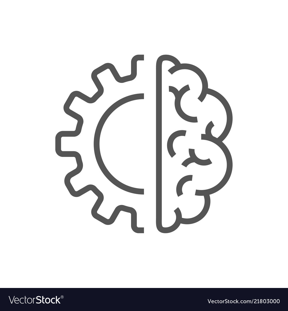 Artificial Intelligence Brain Icon Ai