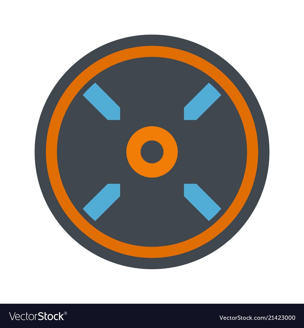 Circle aim target icon flat style