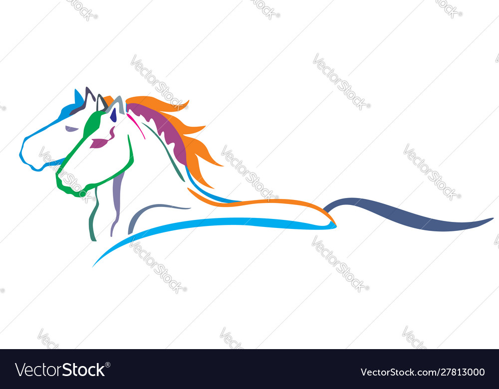 Colorful horses
