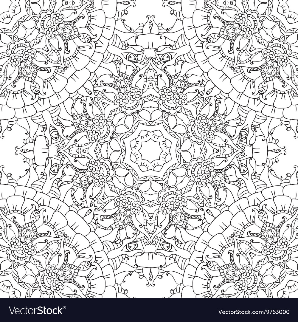 Coloring pages for adultsDecorative hand drawn