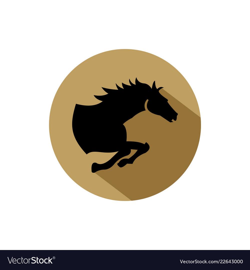 Horse Logo Design Royalty Free Vector Image Vectorstock
