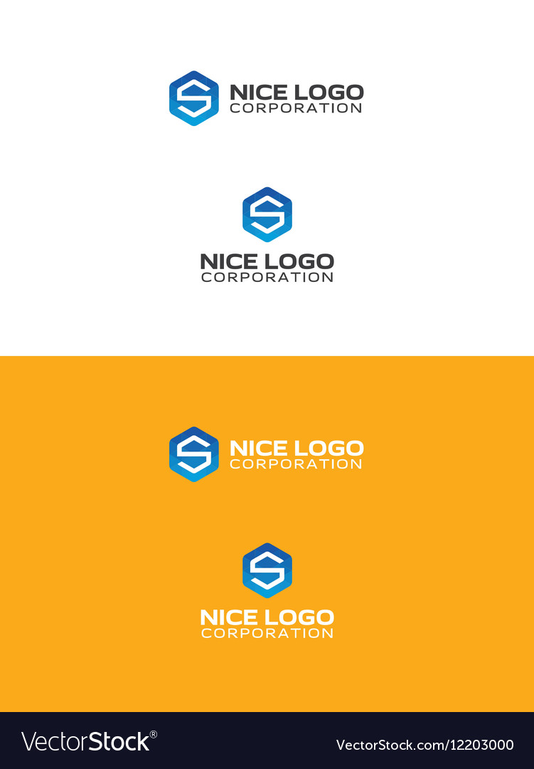 S triangulated logo vector image