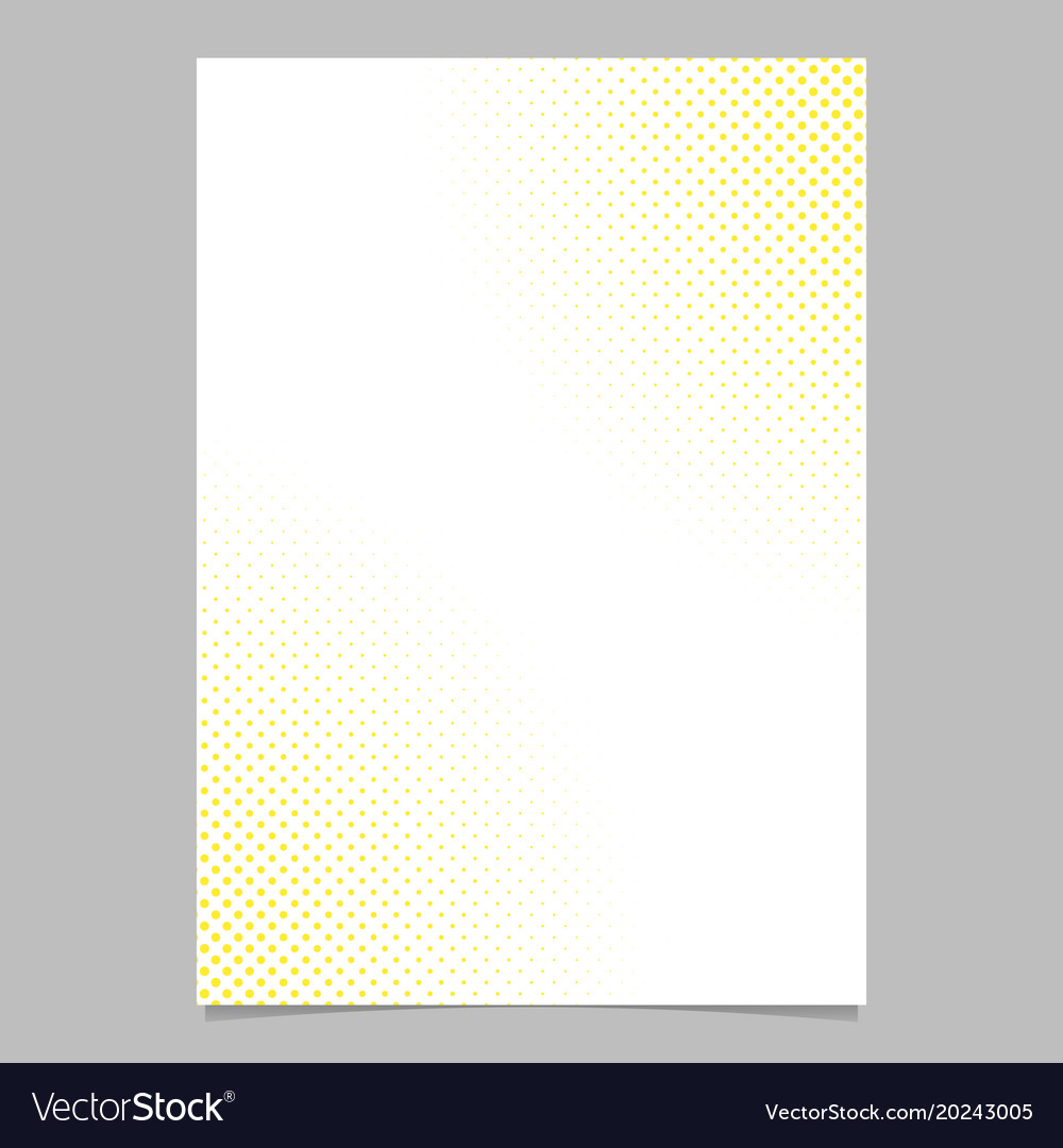 Abstract halftone dot pattern flyer template