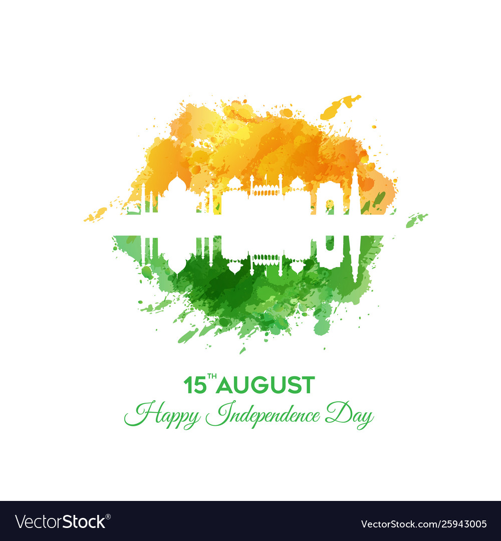 Banner or poster for indian independence day