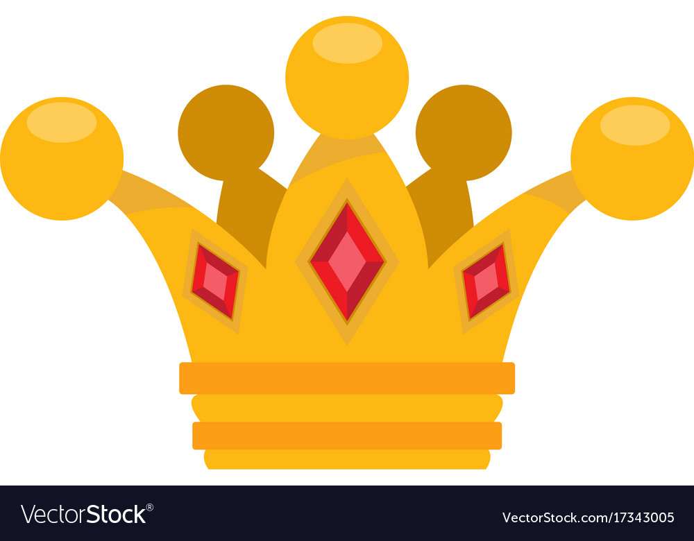 Gold Crown Logo Cartoon Headdress King For The Vector Image