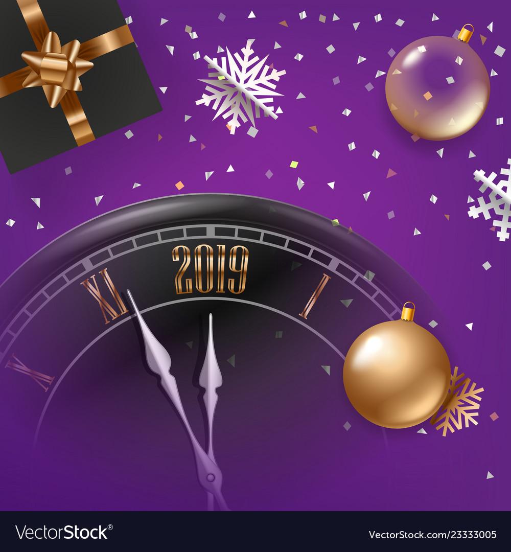 Happy new year greeting card premium design