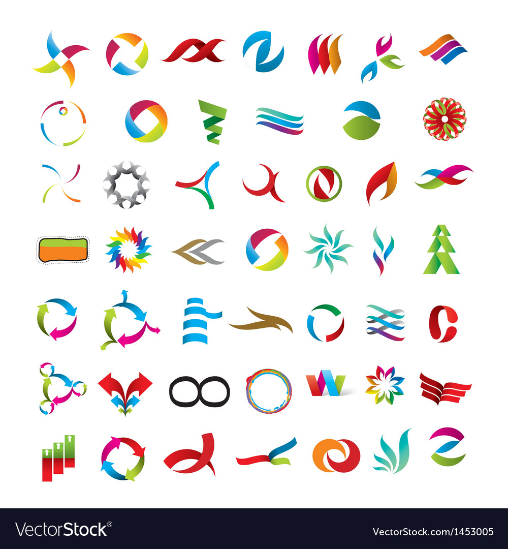 Universal collection of abstract icons