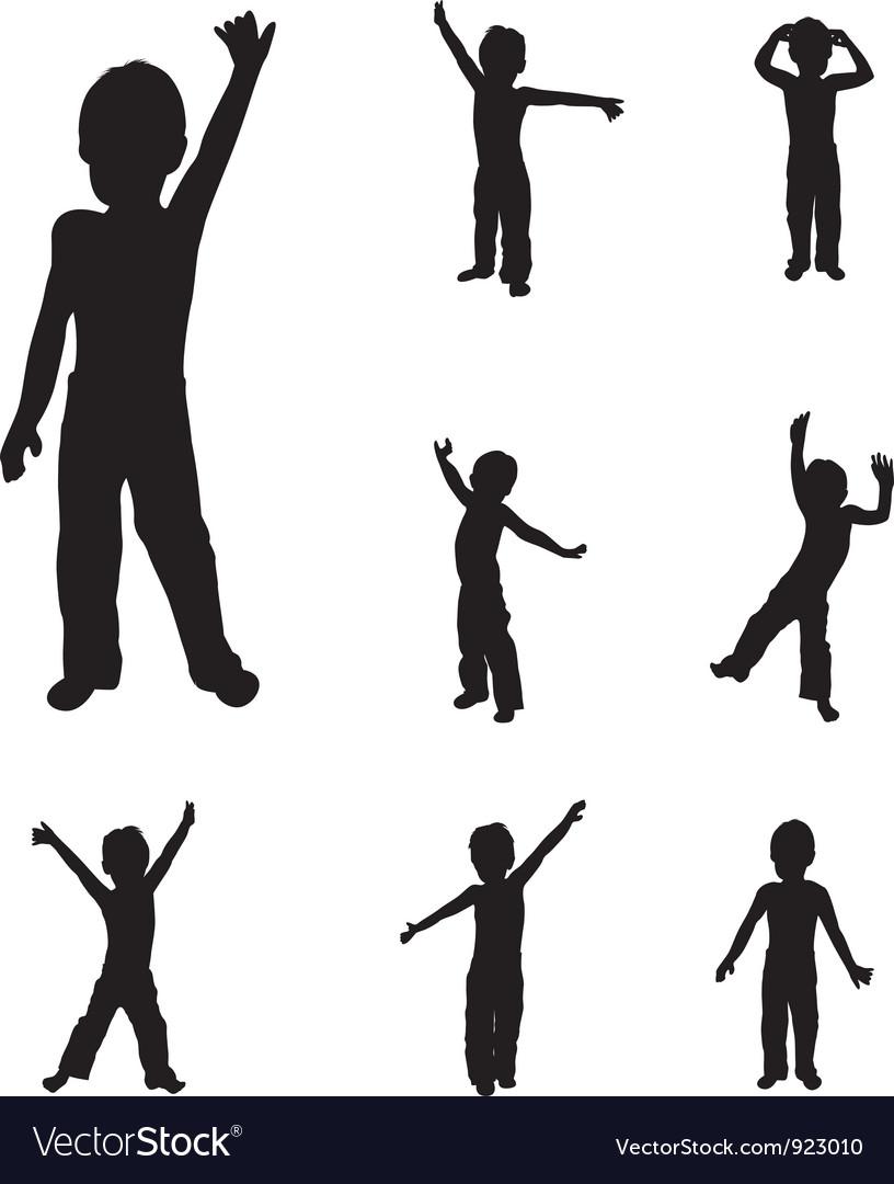 Child dancing vector image