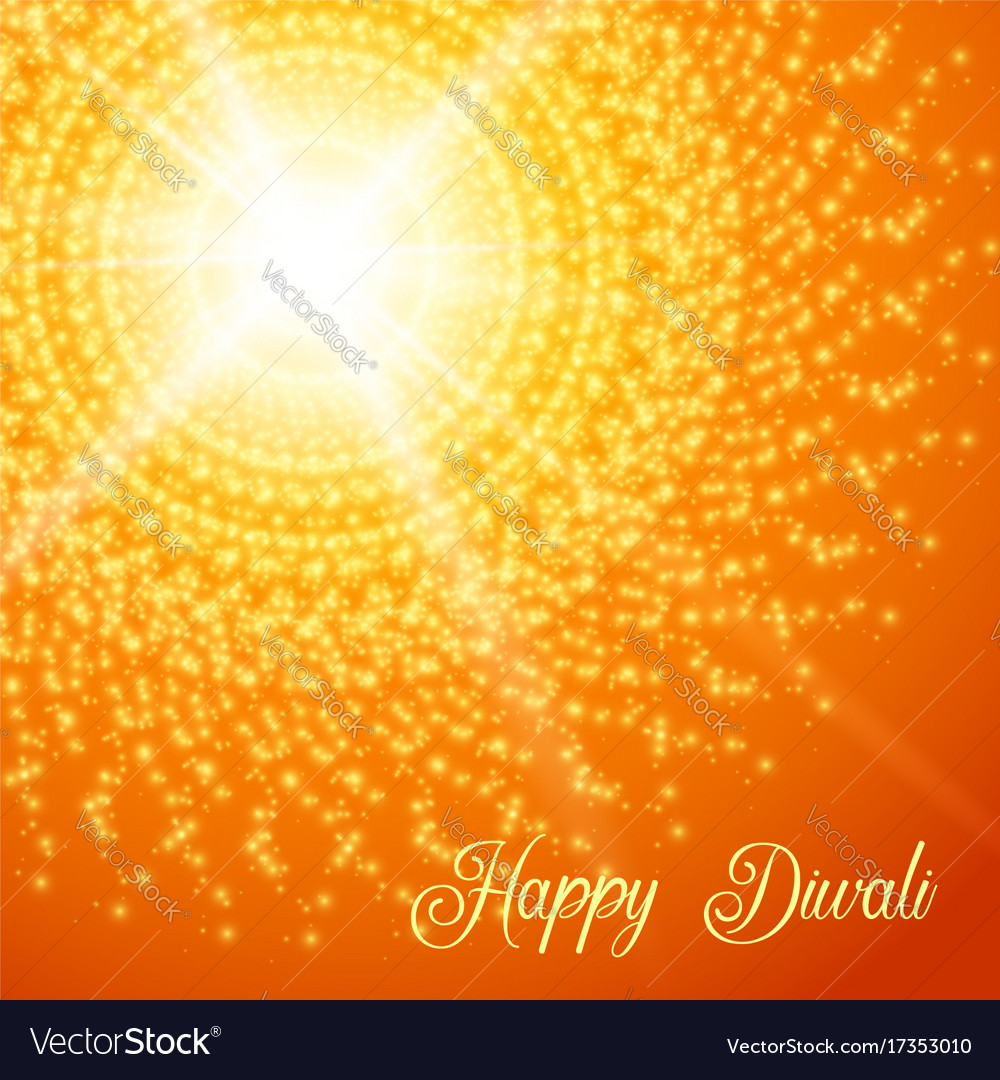 Diwali festival greeting card with rangoli vector image m4hsunfo