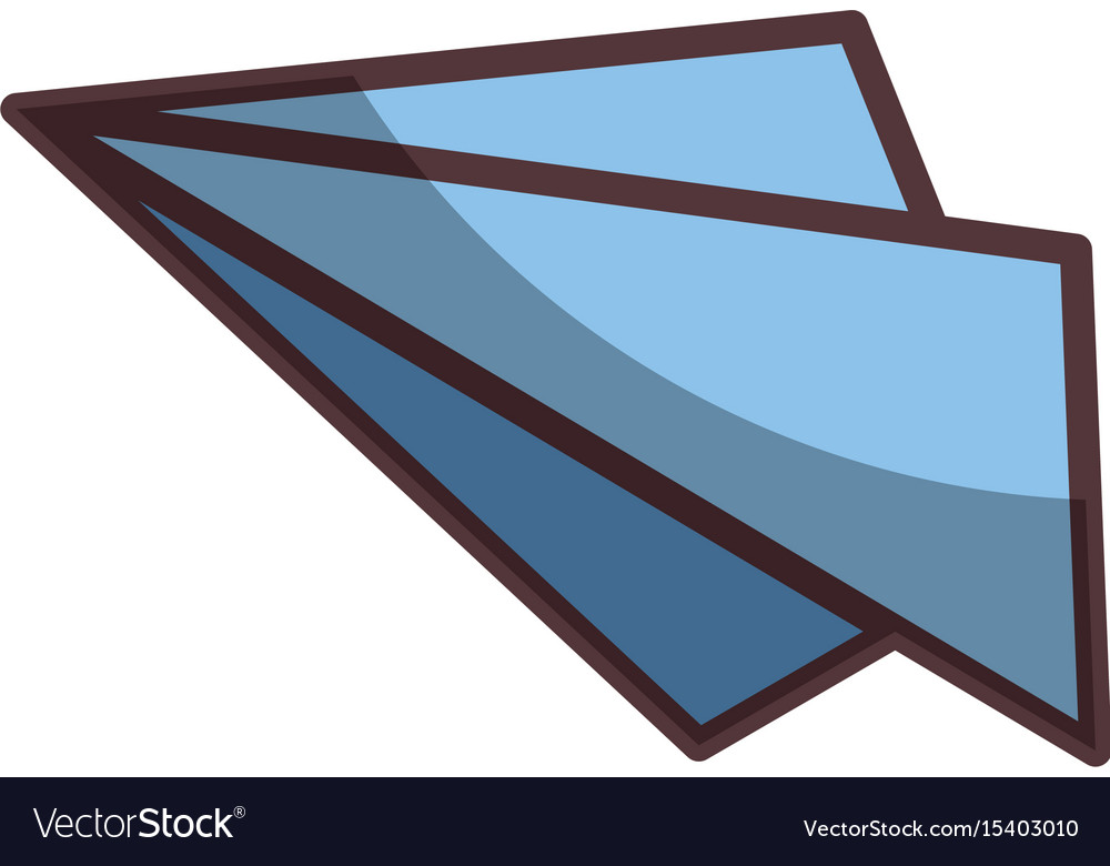 Isolated paper airplane