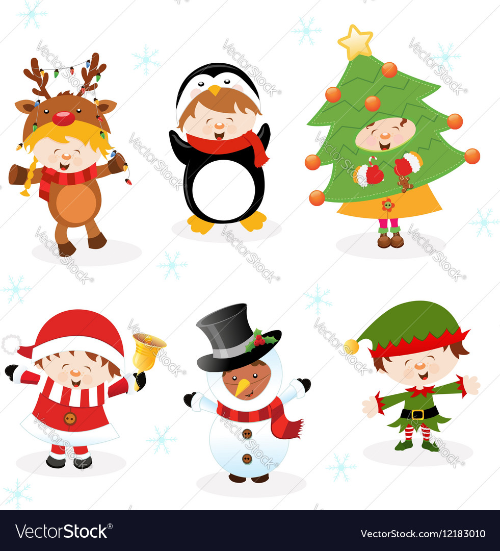 Kids With Christmas Costumes