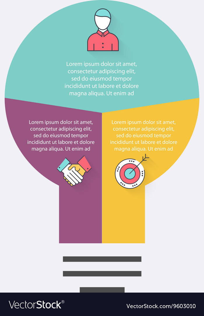 Light bulb infographic infographic
