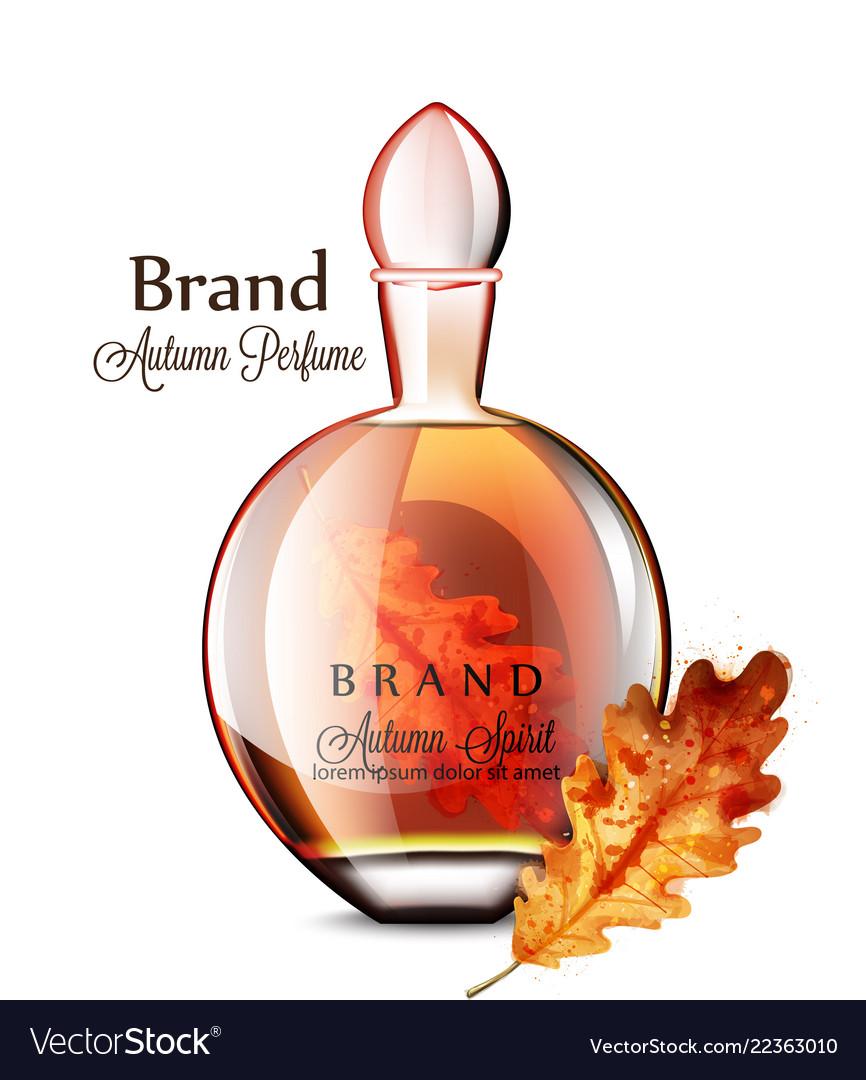 Perfume vial realistic grapes flavor