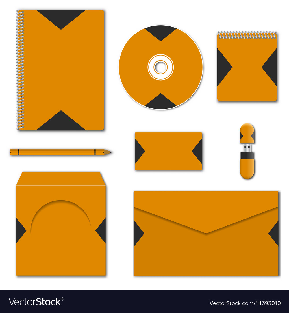 Set of various mock-ups of business stationery