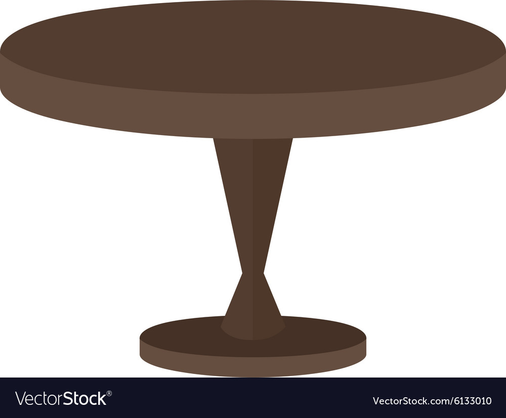 Small Table Royalty Free Vector Image Vectorstock