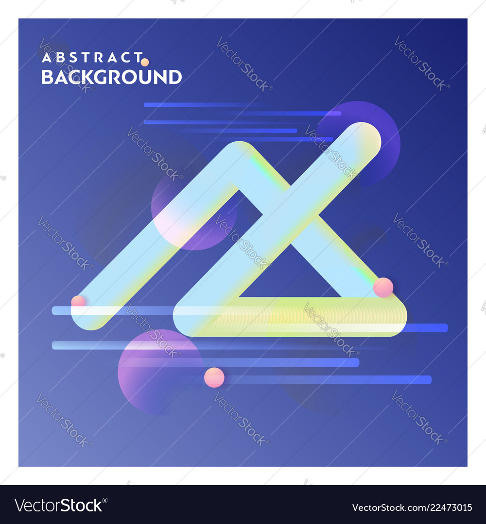 Abstract line background with blue background