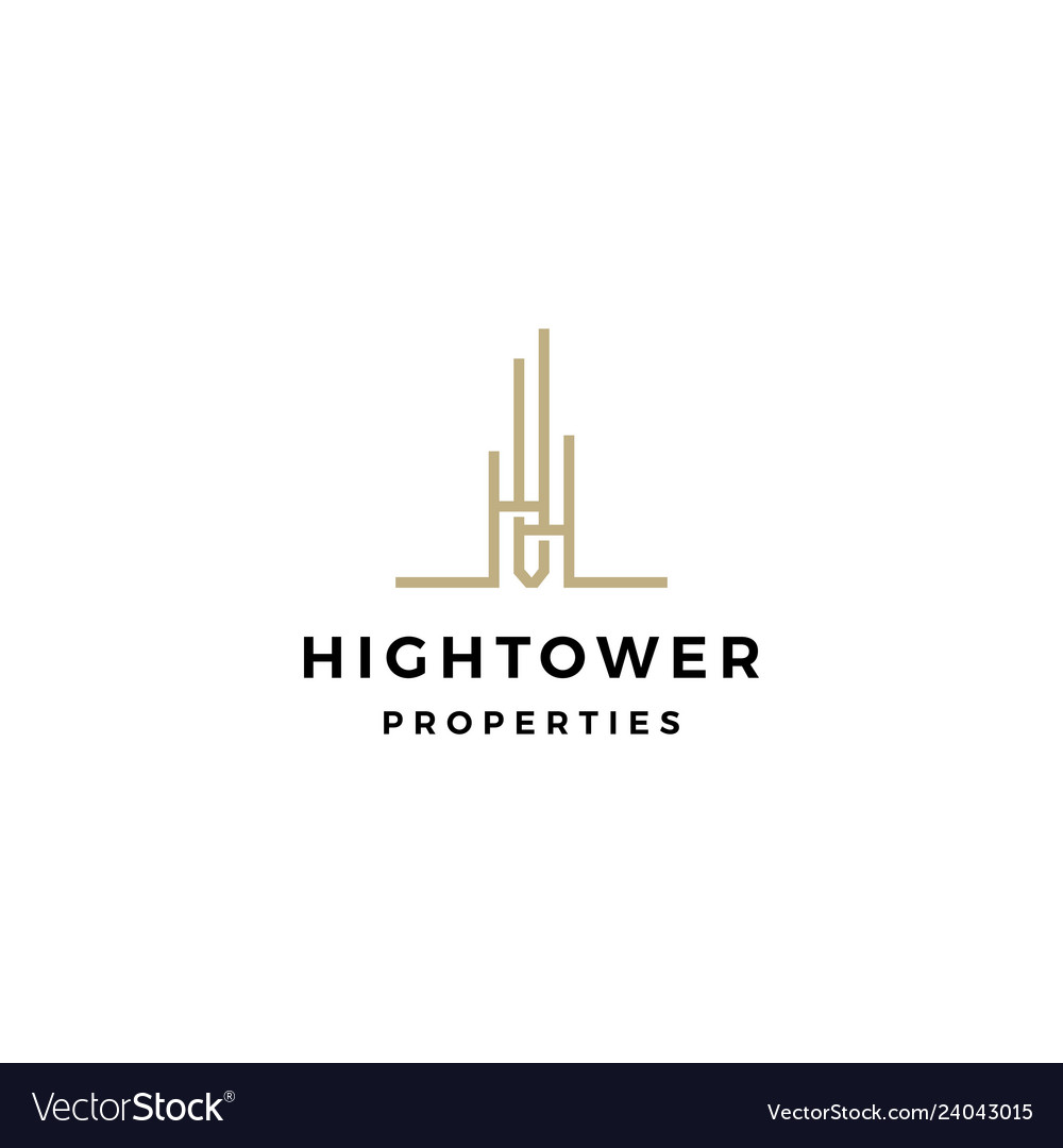 High building tower logo icon