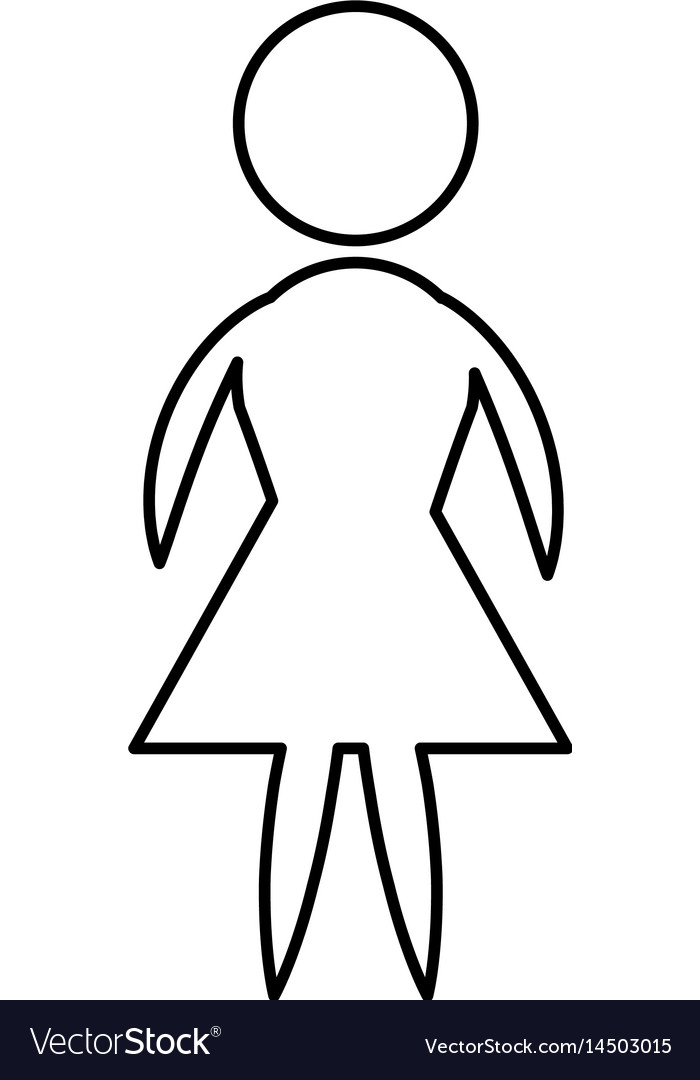 Icon pictogram woman female vector image