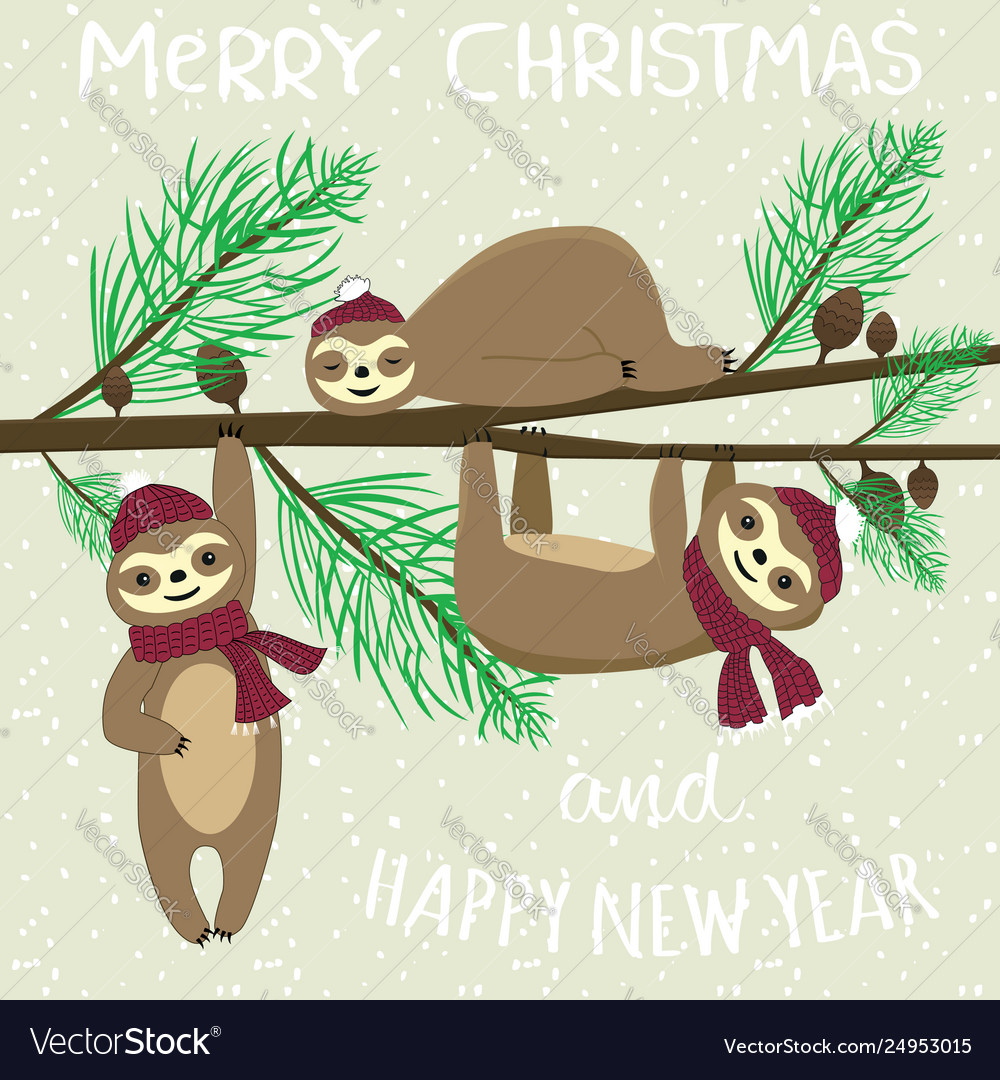 Merry christmas and happy new year slogan