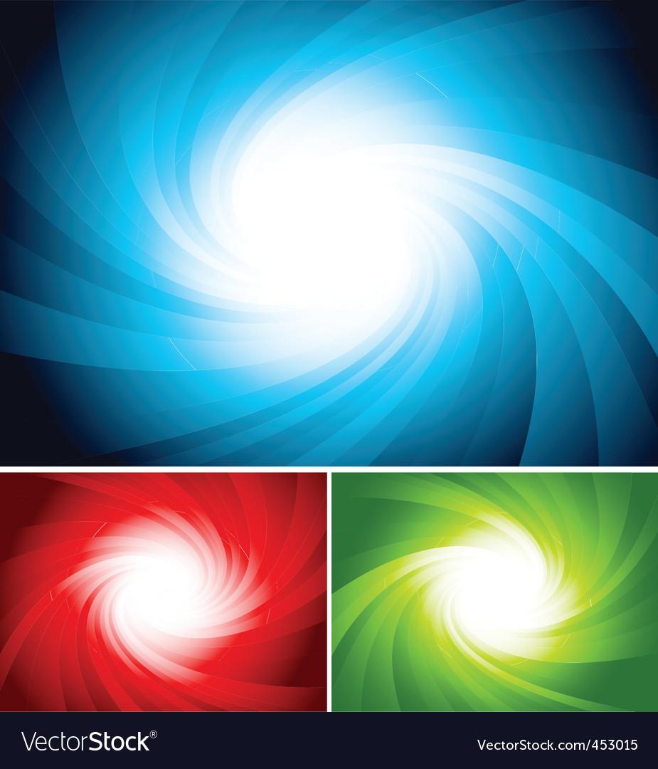 Set colorful swirl background