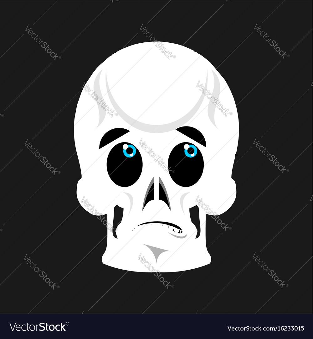 Skull surprised emoji skeleton head astonished