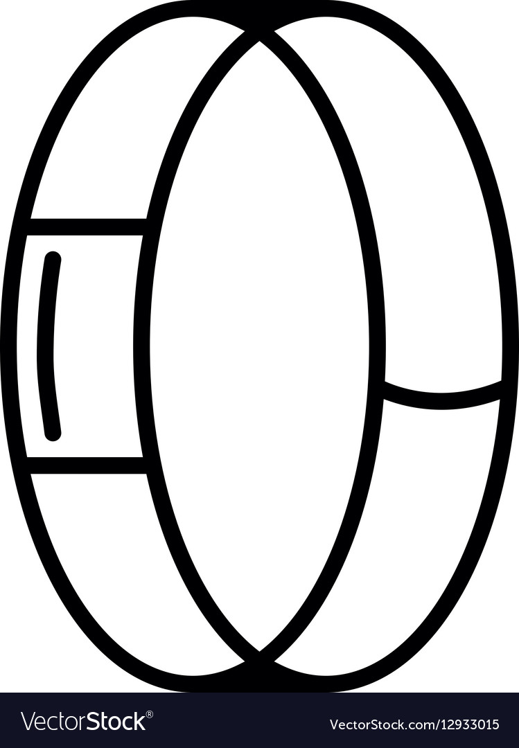 Symbol of Fitness Tracker Thin line Icon of vector image
