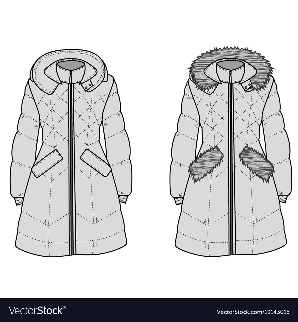 The sketch womens snow jacket with hood